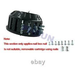 1000Pcs Snow Tire Stud Screw Spikes Nail+ Pneumatic Air Pressure Gun Tool Set