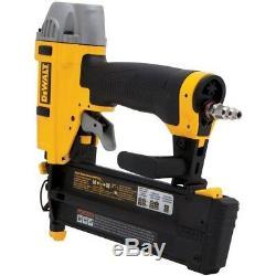 18-Gauge Pneumatic 2 in. Brad Nailer Kit Air Tool Adjustable Belt Hook By DEWALT