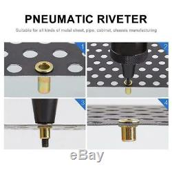 1SET Pneumatic Rivet Nut Gun Rivnut Setting Gun Riveter Air Riveting Tool M8-M10