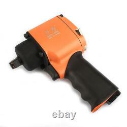 1/2 Air Drive Impact Wrench Torque 500ft/lbs Mini Pneumatic Tool Single Hammer
