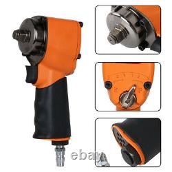 1/2 Drive Air Impact Wrench Pneumatic Single Hammer Remove Tool Set 600ft/lb