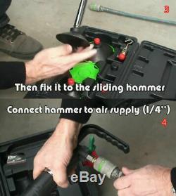 1/4 Air Pneumatic Dent Puller Car Body Repair Suction Cup Slide Hammer Tool Kit