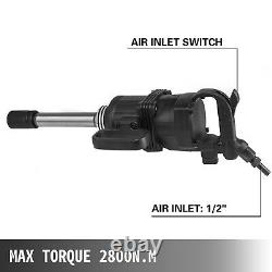 1 Air Impact Wrench 2070ft. Lbs Pneumatic Torque Wrench with 8 Extended Anvil