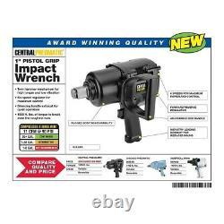 1 Inch Pistol Grip Air Impact Wrench Twin Hammer Side Handle Pneumatic Tool Gun