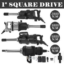 1 Pneumatic Impact Wrench Air Impact Wrench 2800/3800/5800/6800N. M with 8 Anvil