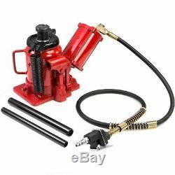 20 Ton Air Manual Pneumatic Hydraulic Low Profile Bottle Jack Lift auto Tool