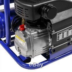 2HP Air Compressor 8Gal Twin Stack 115PSI Pneumatic Tires PSI Air Tool Wheel