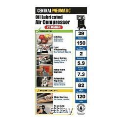 2 HP Vertical Air Compressor Tank 29 Gallon Oil Lubricated Pump Pneumatic Tools