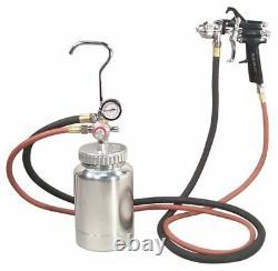 2 Quart Astro Pneumatic Pressure Pot with Auto Paint Spray Gun and Hose 2PG7S