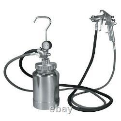 2 Quart Pressure Pot with Silver Gun and Hose Astro Pneumatic AP 2PG8S