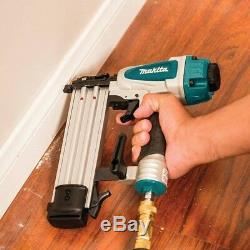 2 in Brad Nailer 18 Gauge Nail Gun Pneumatic Air Tool Wood Trim Work Base Board