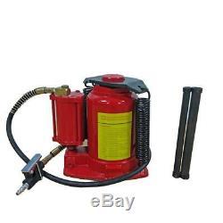 32 Ton Air / Manual Pneumatic Hydraulic Bottle Jack Automotive Repair Tool
