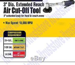 3 Air Pneumatic Wheel Disc Cut Off Tool Extension Long Reach Shaft Saw Cutter