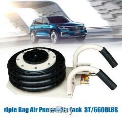 3 Ton 6600lbs Triple Bag Air Jack Lift Jack Pneumatic Jack Air Bag Jack USA