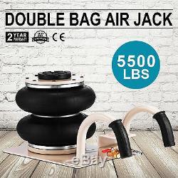 5500LBS Double Bag Air Jack Pneumatic Jack Fast Jacking Tool Vehicle 2.5 Ton