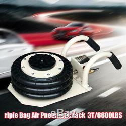 6600LBS Double Bag Air Jack Pneumatic Jack Lift Jack Jacking Tool Fast Lift NEW