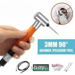 90 Degree Air Angle Grinder Mini Micro Engraving Pneumatic Polishing Rotary Tool