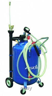AOE1065 Waste Oil Air Drainer Tank 65L Portable Suction Tool Probes Pneumatic