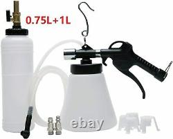 Air Pneumatic Brake Fluid Bleeder Tool with 4 Master Cylinder Adapters 90-120psi