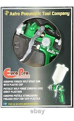 Astro Pneumatic EUROHV103 Europro Forged HVLP Spray Gun With Plastic Cup
