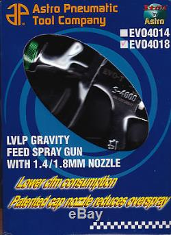 Astro Pneumatic EVO4018 Low Volume Low Pressure (LVLP) Spray Gun 1.8mm
