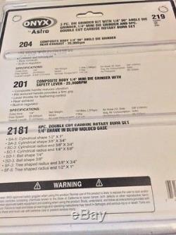 Astro Pneumatic ONYX 219 3pc Die Grinder Kit 219