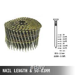 CN80 Coil Nailer 2 to 3-1/4 15 Degree Pneumatic Coil Roofing Siding Nailer