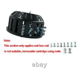 Car Winter Wheel 8mm Tire Stud Screw Pneumatic Air Gun Installer Tool + Nail Box