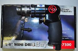 Chicago Pneumatic 1/4 Inch Drive Mini Air Drill Tool CPT7300 2,500 RPM