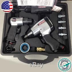 Craftsman 10 Pc Air Tool Set Impact Wrench Kit 1/2 Pneumatic Hammer Ratchetnew