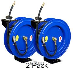 Cyclone Pneumatic CP3888 3/8 x 50' 300 PSI Air Compressor Hose Reel 2 Pack