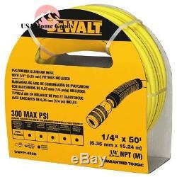 DEWALT Brad Nailer 18-Gauge 2 Kit With 50 ft. X 1/4 Air Hose Nailer Gun Tool