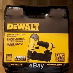 DEWALT Pneumatic Brad Nailer 18-Gauge Power Air Nail Gun Tool Kit Trim 318-hg