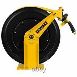Dewalt 1/2 inch 50 feet Retractable Air Compressor Pneumatic Hose Reel Tool New