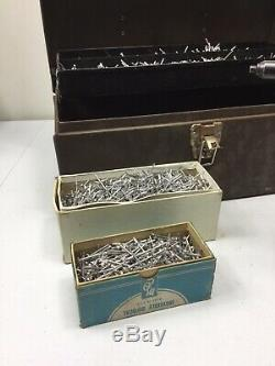Emhart Pneumatic Air Pop Rivet Gun, PRG-510 Plus Rivet/tool Box