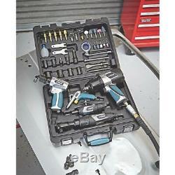 Erbauer Pneumatic Air Tool Kit 44 Pieces ½ ¼ Wrench Ratchet Grinder Gun Hammer