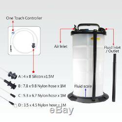 FIT TOOLS 9.5L Air / Pneumatic (Brake) Oil & Fluid / Liquid Extractor +4 hoses