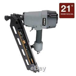 Framing Nailer Strip 21-Degree Nail Gun Air Tool Pneumatic Heavy Duty Sheathing