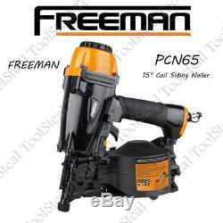 Freeman PCN65 Pneumatic 1-1/4 x 2-1/2 15° Coil Siding Nailer With WARRANTY