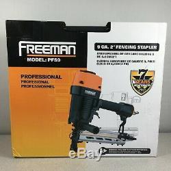 Freeman PFS9 9 ga 2 Professional Pneumatic Fencing Stapler with Case Air Tool