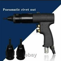Handheld Air Rivet Nut Gun Pull Gun Riveter Pneumatic Riveting Tool M5-M6