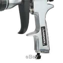 Husky HVLP Standard Gravity Feed Spray Gun Kit Pneumatic Paint Sprayers Air Tool