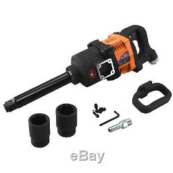 Industrial Air Impact Wrench 1 Pneumatic Compressor Long Shank 1,900 ft/lb