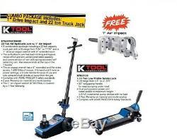K-Tool 22 Ton Pneumatic Air Hydraulic Professional Axle Jack 9 21 Lift