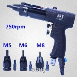 M5/M6/M8 Rivet Gun Pneumatic Pull Setter Pneumatic Air Rivets Nut Gun 750rpm 803