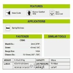 MEITE MTC560 1 1/2 14GA pneumatic hog ring gun air nailer tools pliers C-Ring