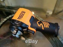 Matco MT2765 1/2 Drive Air Stubby Impact Wrench Pneumatic Tool Orange