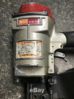 Max CN-70 Pneumatic Siding Coil Nailer Air Coil Nail Gun Tool Works Great