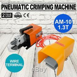 Mophorn Pneumatic Crimping Tool AM-10 Pneumatic Air Power Wire Terminal Crimping