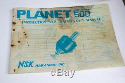 NSK Planet 500 Air Pneumatic Speed Jig Grinder with Case and Tooling